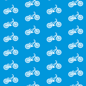 bike print on blue