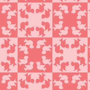Songbird Squares in Pink