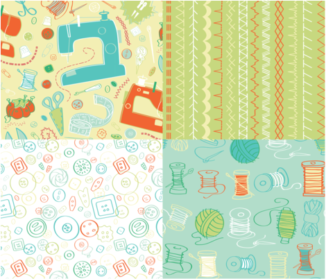 Stitched Up fabric by allisonlynn on Spoonflower - custom fabric