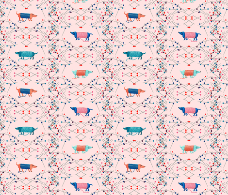 Little dogs fabric by sanneteloo on Spoonflower - custom fabric