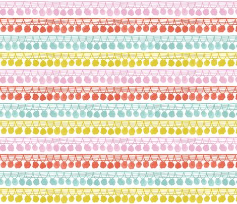 pom pom fringe - pastel fabric by jillbyers on Spoonflower - custom fabric