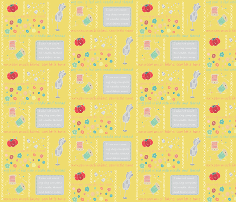 Sew Cute Yellow fabric by pamela_hamilton on Spoonflower - custom fabric