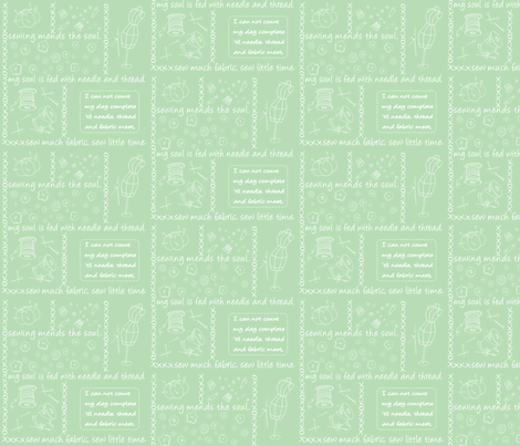 Notion Outlined Mint fabric by pamela_hamilton on Spoonflower - custom fabric