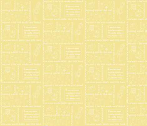Notion Outlined Yellow fabric by pamela_hamilton on Spoonflower - custom fabric