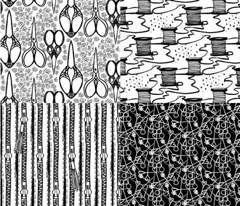 Notions in Pen fabric by emilysanford on Spoonflower - custom fabric