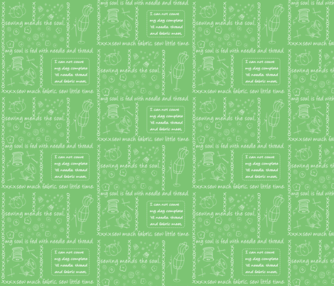 Notion Outlined Lime fabric by pamela_hamilton on Spoonflower - custom fabric