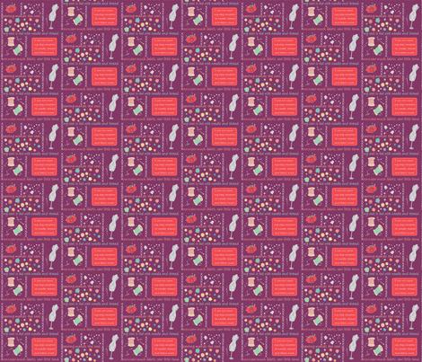 Sew Cute Plum fabric by pamela_hamilton on Spoonflower - custom fabric