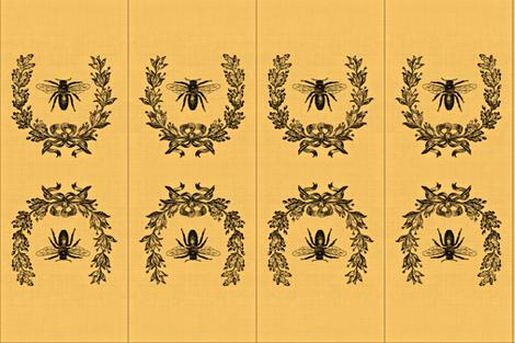 Honey bee ditty bags fabric by the_cornish_crone on Spoonflower - custom fabric