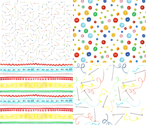 sewing notions fabric by cousaspequenas on Spoonflower - custom fabric