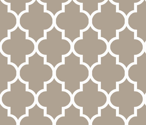 Quatrefoil in Cafe fabric by willowlanetextiles on Spoonflower - custom fabric