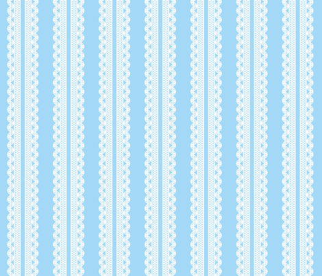 Lace stripe fabric by needlebook on Spoonflower - custom fabric