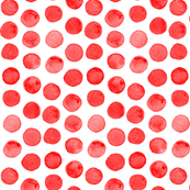 Red Watercolor Dots