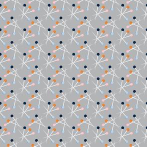 Polka dot pins