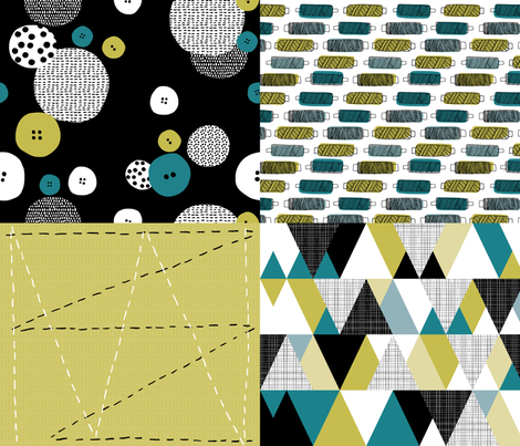 Sewing notions fabric by oohoo_designs on Spoonflower - custom fabric