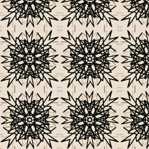 Black & white tribal tile