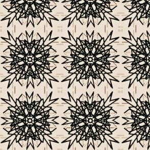 Black & white tribal tile