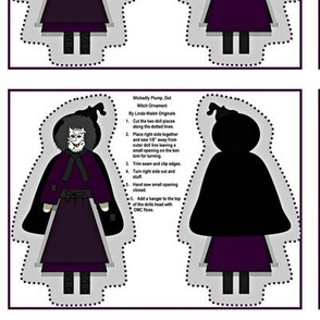 Wickedly Plump, Dot Cut and Sew Witch Doll