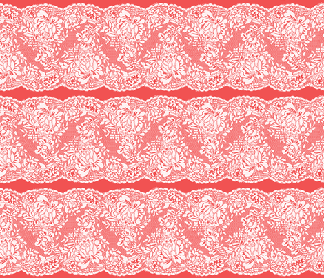 Lace Cayenne fabric by vannina on Spoonflower - custom fabric