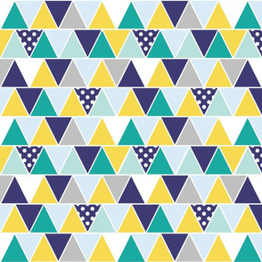 Triangles Blues Greens Yellow