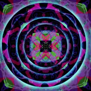 Neon Tribal Kaleidoscope