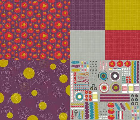 Sewing Circles fabric by pattyryboltdesigns on Spoonflower - custom fabric
