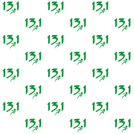 Green 13.1 half-marathon fabric by sunsetworks on Spoonflower - custom fabric