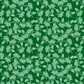 field of tulip_seamless_mint , emerald green