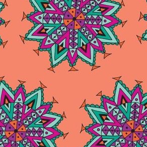 Southwest mandala peach