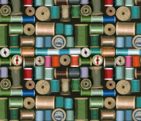 Spools of Thread fabric by elramsay on Spoonflower - custom fabric