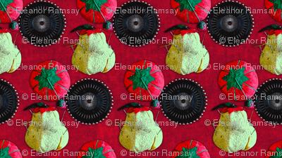 Pincushions on Red Velvet