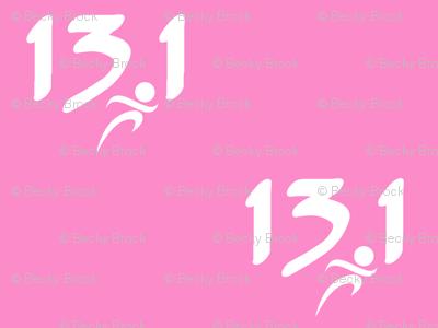 13.1 half-marathon on pink
