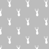 Deer white on mint