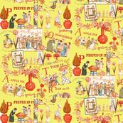 Kate Greenaway Tribute fabric