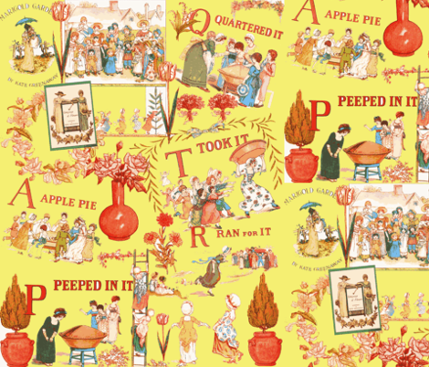 Kate Greenaway Tribute fabric fabric by artland95 on Spoonflower - custom fabric