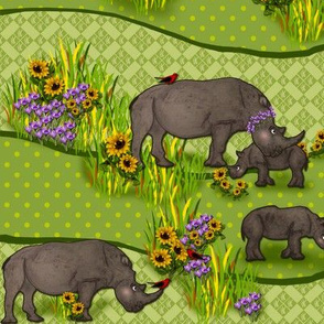 Romping Rhinos 2