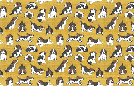 Beagle Puppies by Friztin fabric by friztin on Spoonflower - custom fabric