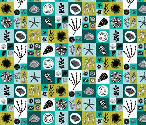 Sea life tiles fabric by oohoo_designs on Spoonflower - custom fabric