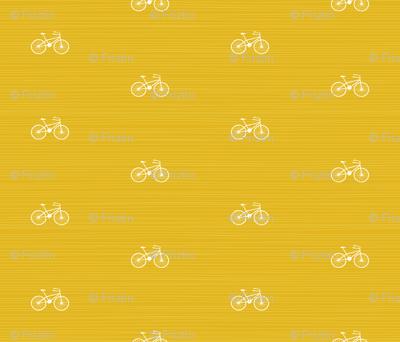 Bike on Yellow by Friztin