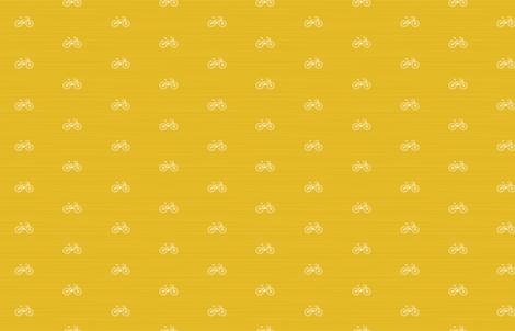 Bike on Yellow by Friztin fabric by friztin on Spoonflower - custom fabric
