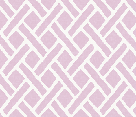 Savanna Trellis in Lilac fabric by willowlanetextiles on Spoonflower - custom fabric