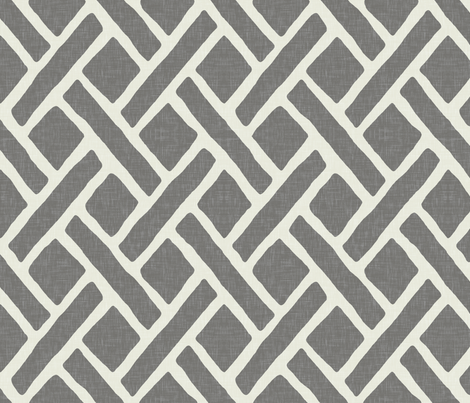 Savannah Trellis in Gray fabric by willowlanetextiles on Spoonflower - custom fabric