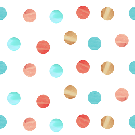 Watercolor Scatter Dots fabric by willowlanetextiles on Spoonflower - custom fabric