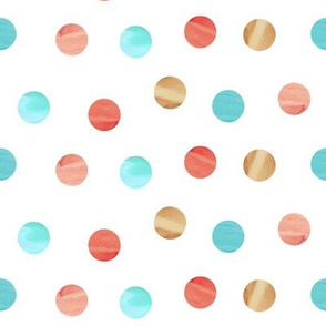 Watercolor Scatter Dots