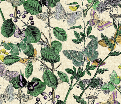 Springtime In The Butterflies ~ Garden ~ Brillig fabric by peacoquettedesigns on Spoonflower - custom fabric