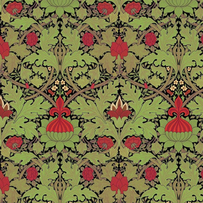 William Morris ~ Growing Damask ~ Christmas Night