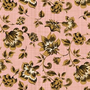 Fleurs de Provence ~ Gilt on Dauphine ~ Linen Luxe