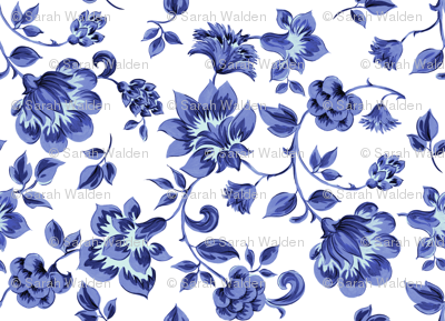 Fleurs de Provence ~ Provencal ~ Blue and White