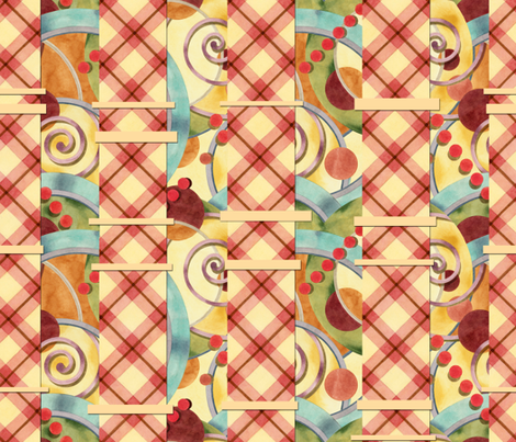 Europa with Plaid fabric by patriciasheadesigns on Spoonflower - custom fabric