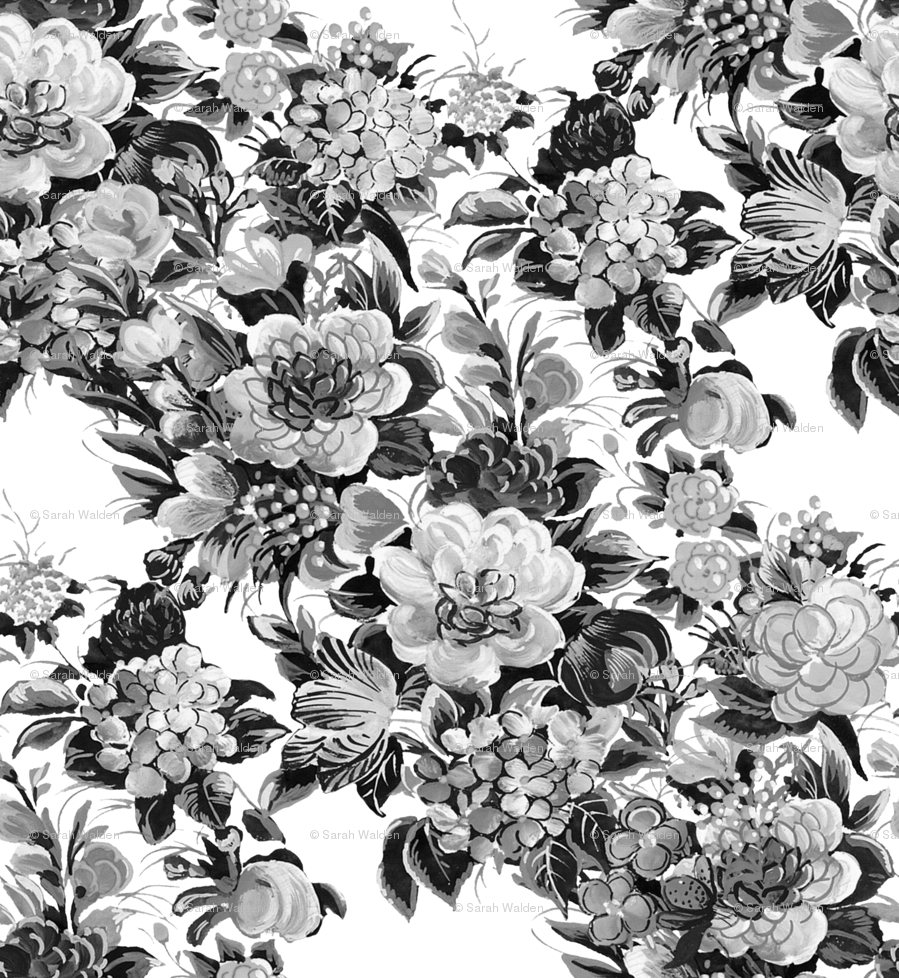 Mid century modern flower cocktail black and white fabric mid century modern flower cocktail black and white fabric peacoquettedesigns spoonflower mightylinksfo