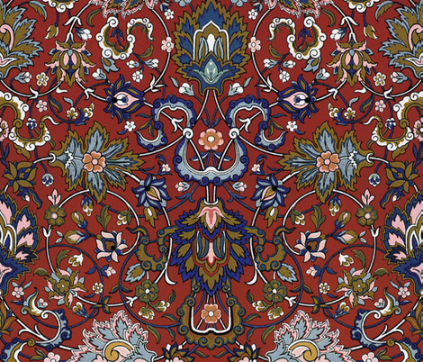 Genni's Tapestry ~ Annii and Ursa ~ Medium fabric by peacoquettedesigns on Spoonflower - custom fabric